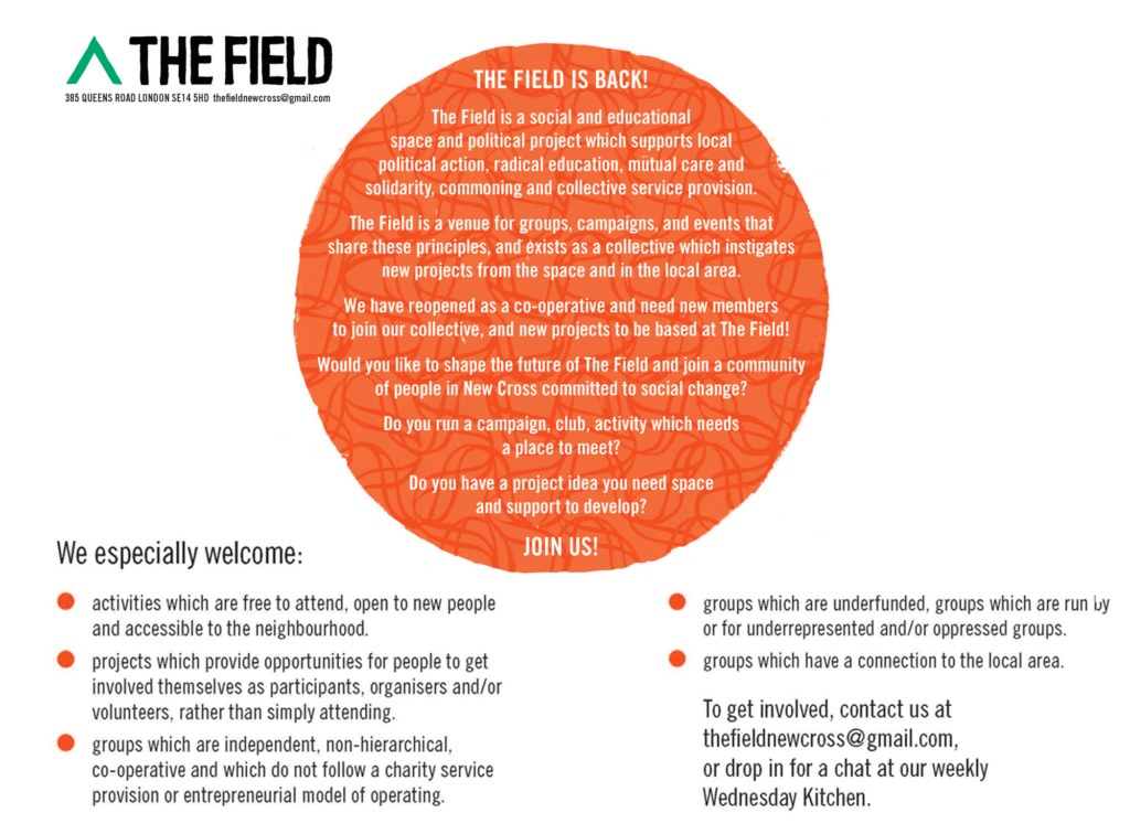 Contact us at info@thefieldnx.com to get involved.